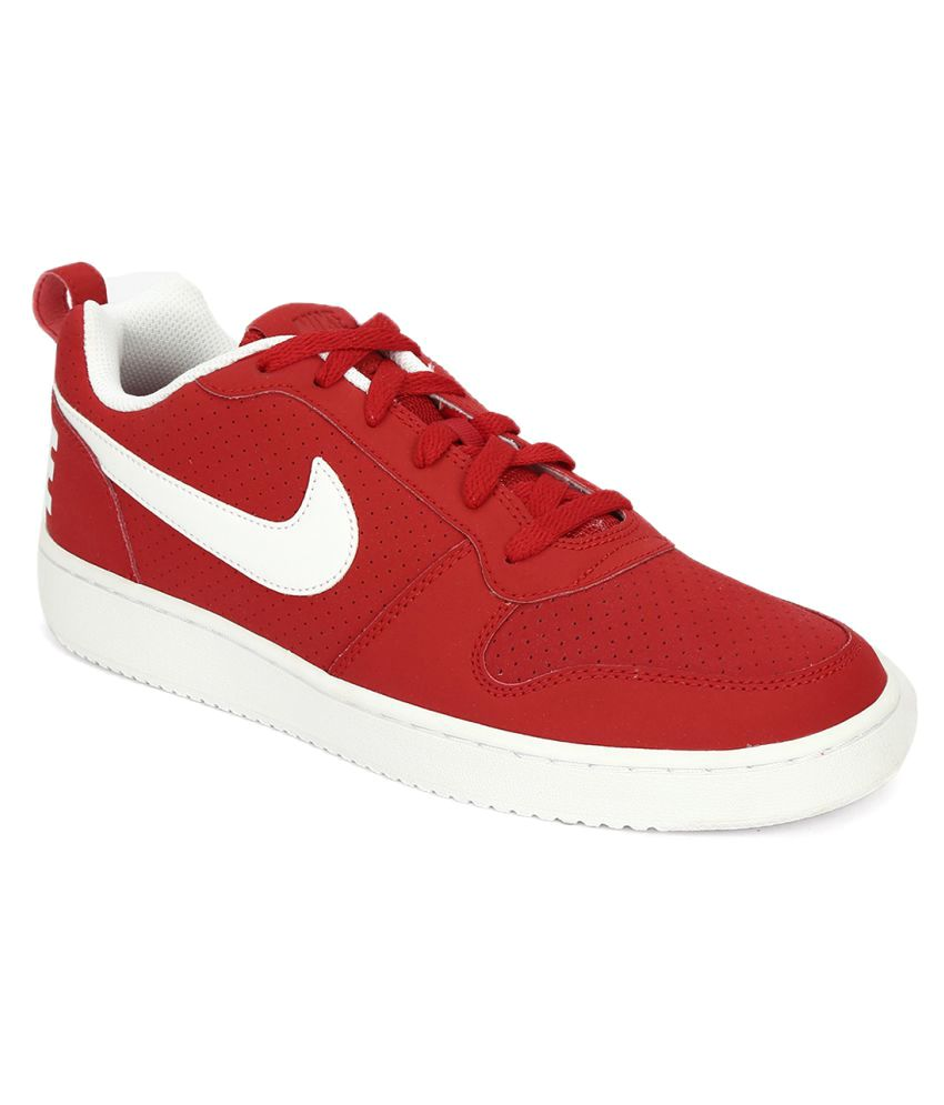 4321164190f Nike COURT BOROUGH LOW Red Casual Shoes - Buy Nike COURT BOROUGH LOW Red Casual  Shoes Online at Best Prices in India on Snapdeal