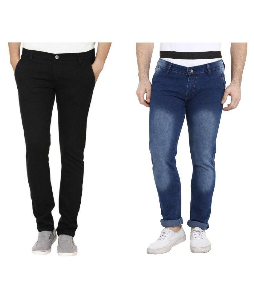 Urbano Fashion Multicolored Slim Jeans