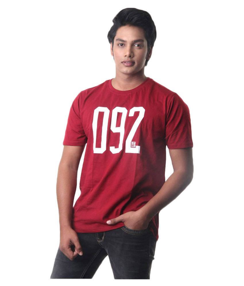 Intouch Maroon Round T-Shirt