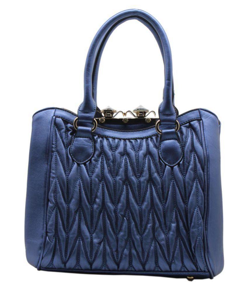 Trendy Blue P.U. Handheld