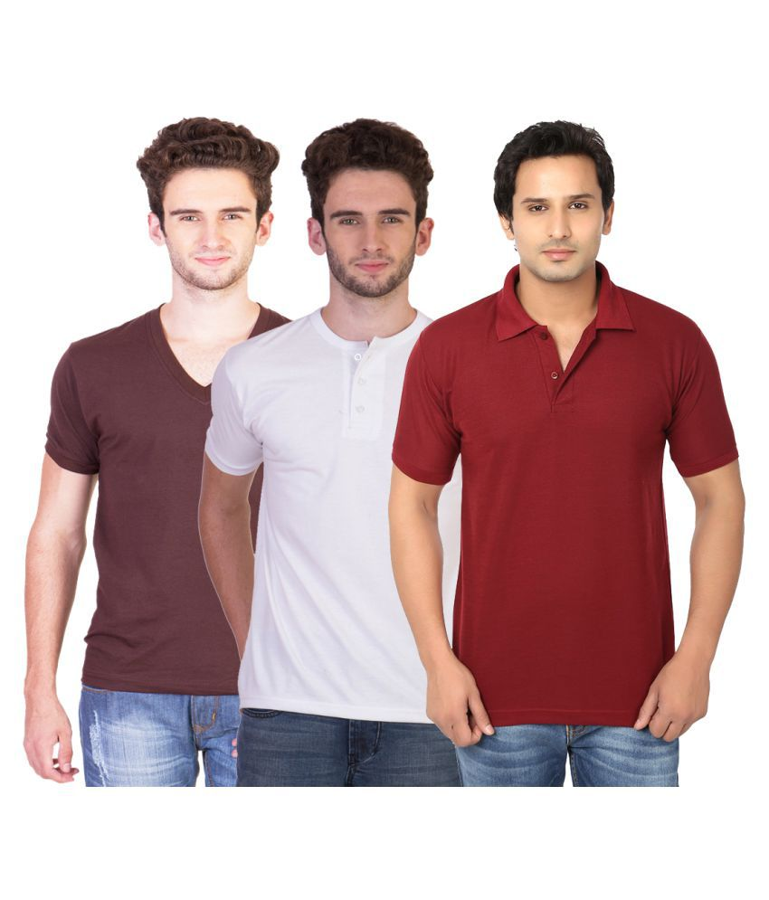 Keepsake Multi V-Neck T-Shirt Pack of 3