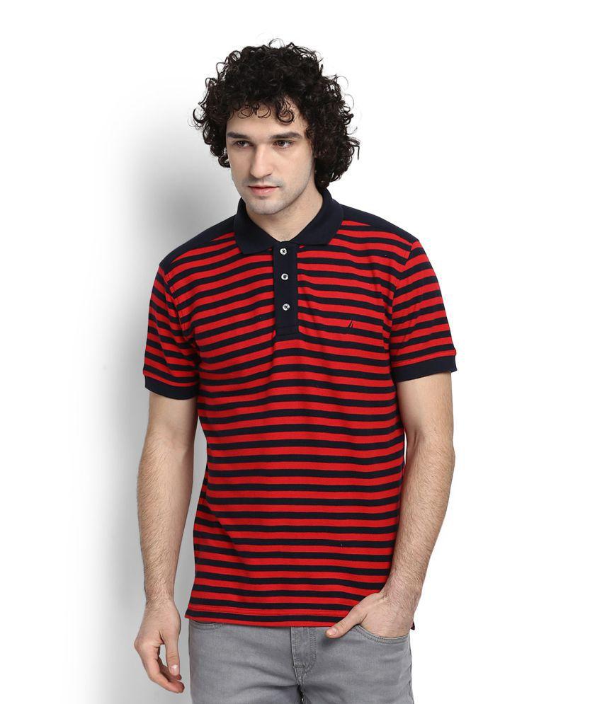 Nautica Red Polo T-Shirt