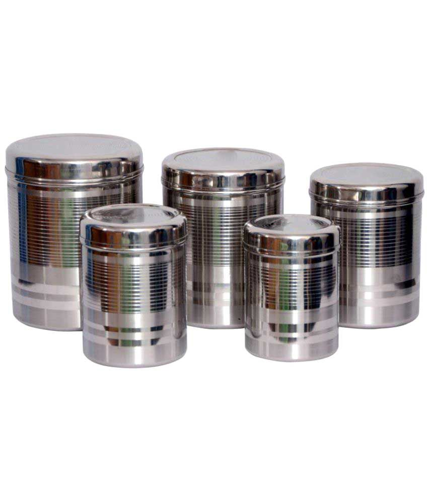 Tactware Kitchen Storage Stainless Steel Food Container Set Of 5