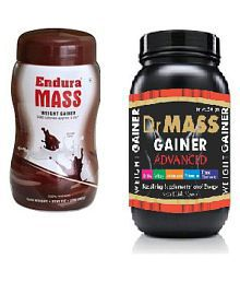 Endura Mass Gainer Choklet 500g+dr Well Weight Gainer 500 Gm Chocolate Weight Gainer Powder Pack Of 2