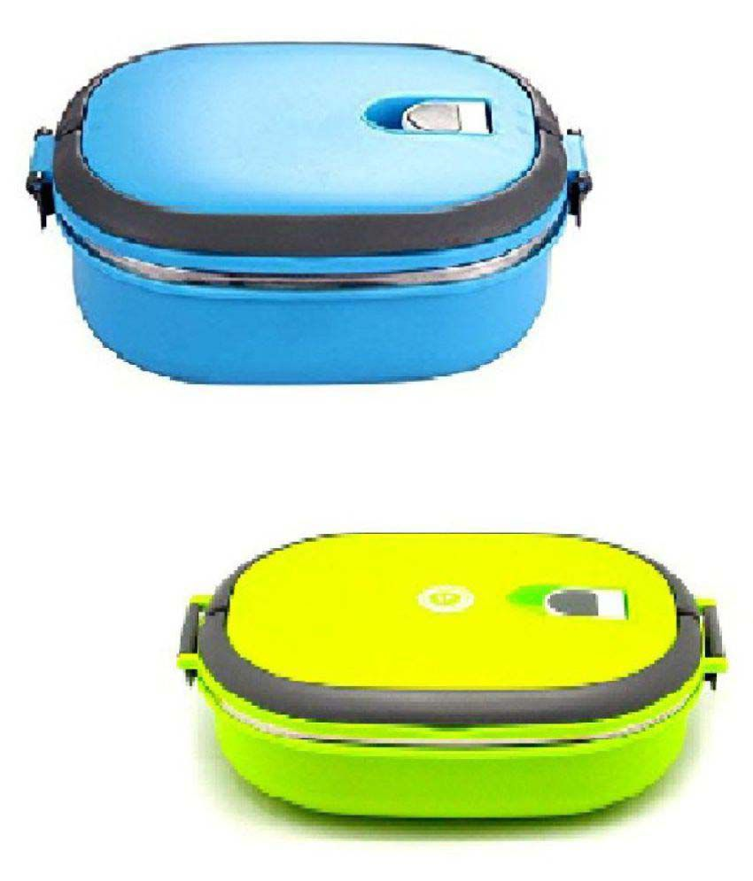 Xeekart Set of 2 Vacuum Lunch Dinner Tiffin Box For School ...