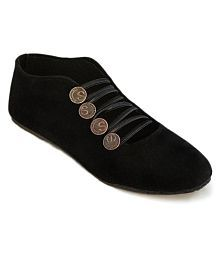 Step India Black Casual Shoes