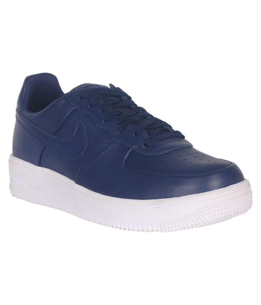 nike air force 1 ultraforce leather blue casual shoes. Black Bedroom Furniture Sets. Home Design Ideas