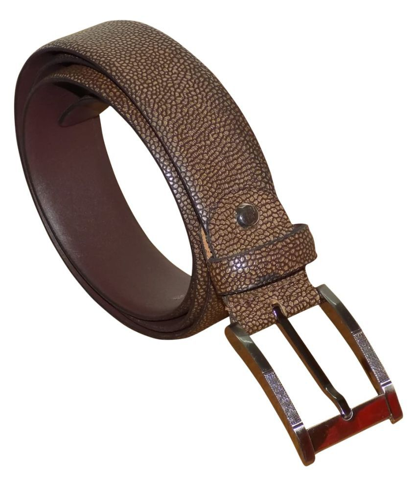 Kan Brown Leather Casual Belts