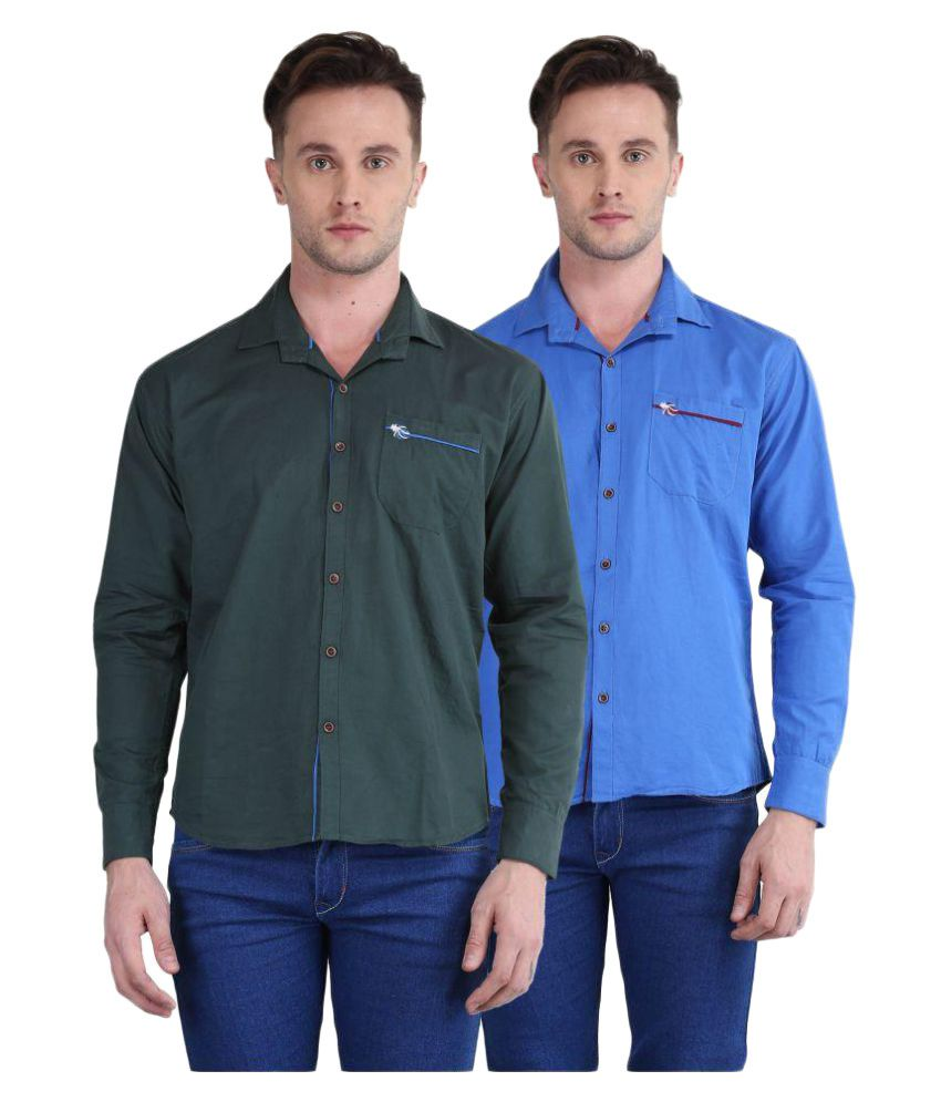 British Terminal Multi Casuals Slim Fit Shirt Pack of 2