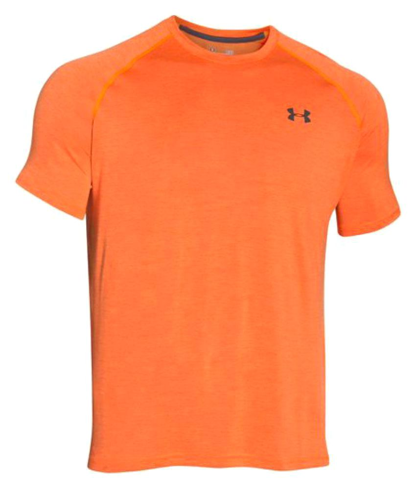Under Armour Orange Polyester T Shirt