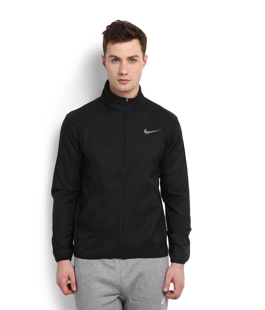 94e01eed24 Nike Black Polyester Terry Jacket - Buy Nike Black Polyester Terry ...