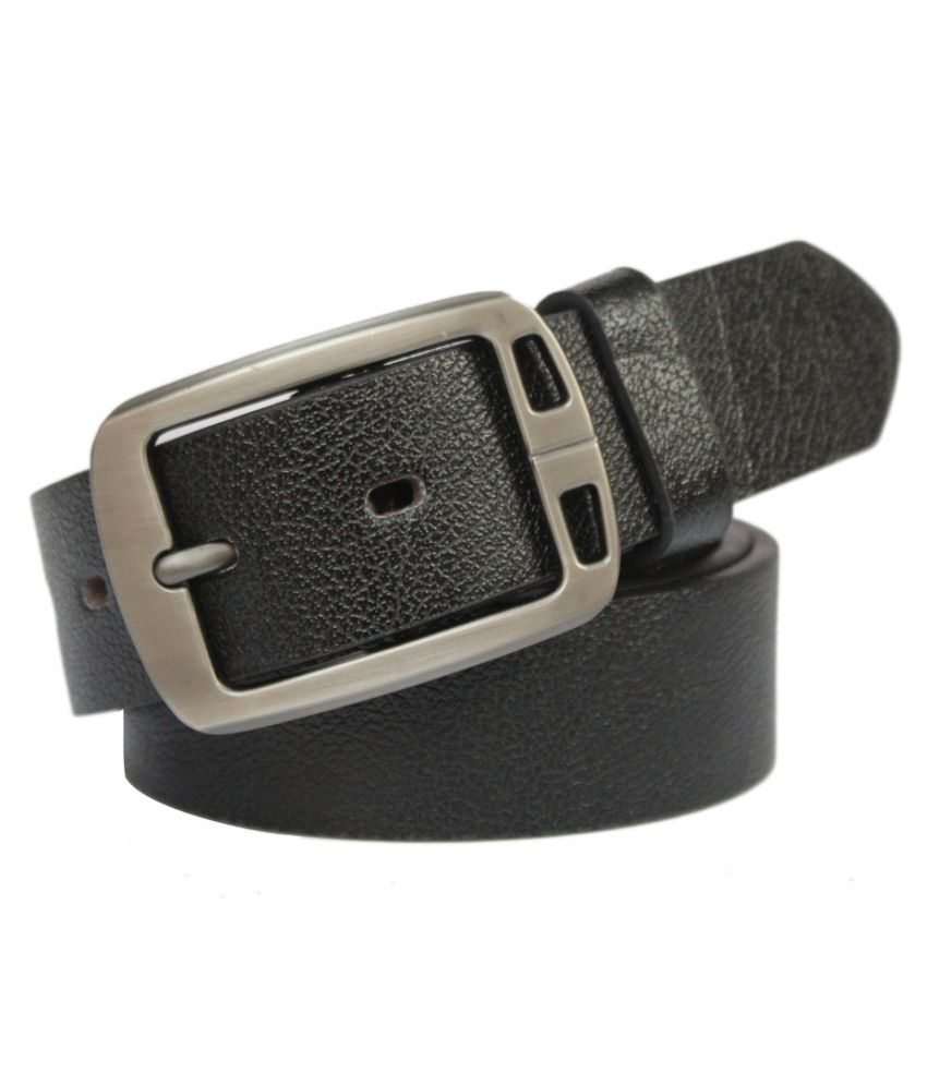 Bacchus Black Faux Leather Casual Belts