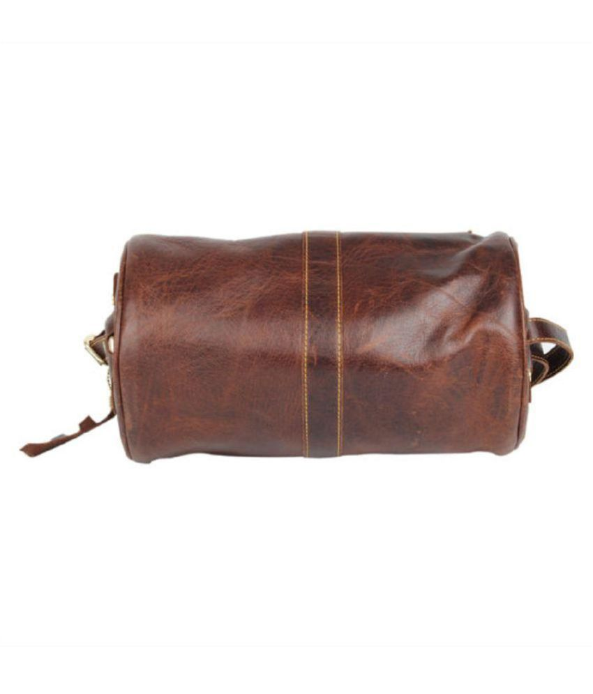 Pingooz Brown Pure Leather Sling Bag - Buy Pingooz Brown Pure ...