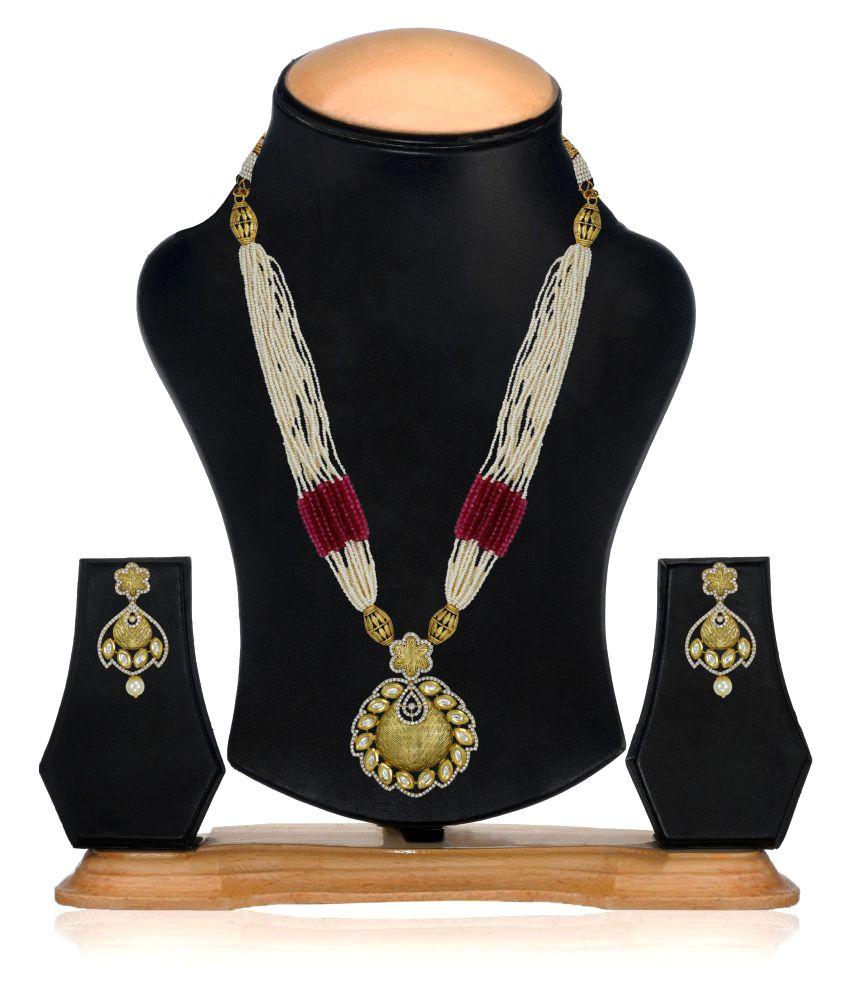 Zaveri Pearls Multicolor Necklace Set