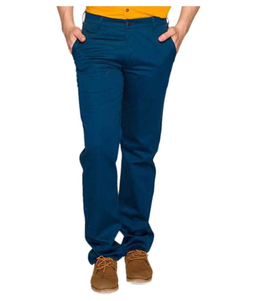 Colorplus Green Regular Flat Trousers