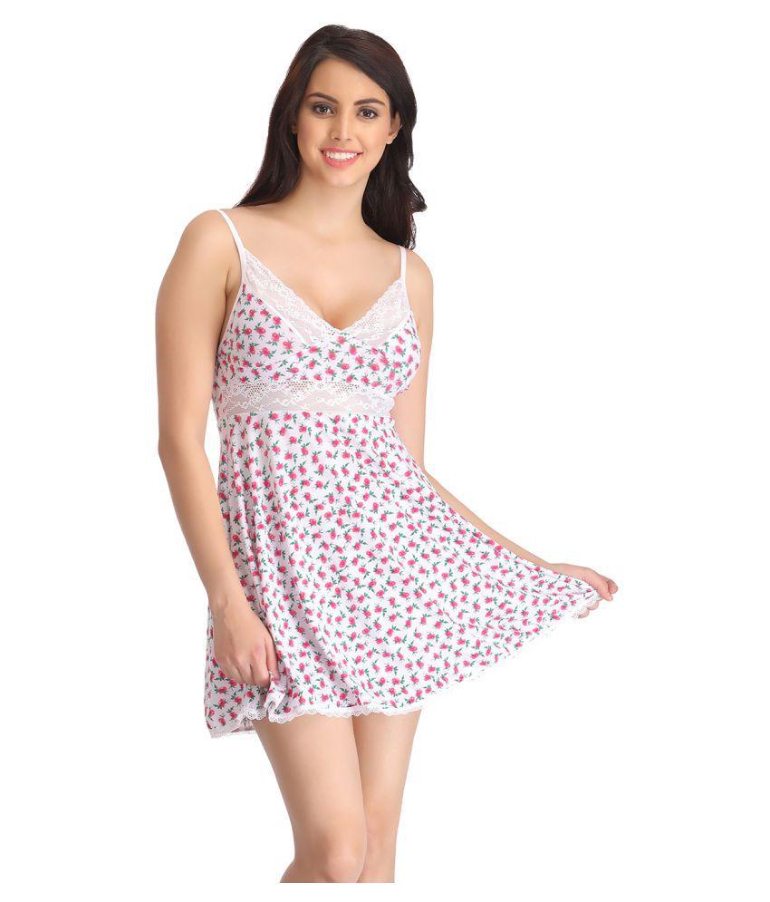 Clovia Nylon Baby Doll Dresses Without Panty
