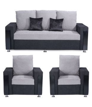 Bharat Lifestyle Ocea Fabric 3+1+1 Sofa Set Part 89