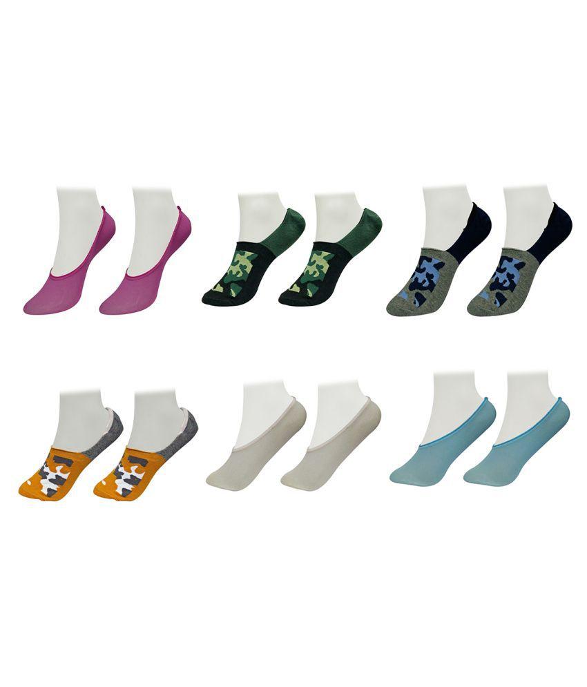 Gold Dust Multicolor Latest Fancy Low Cut Socks 6 Pair