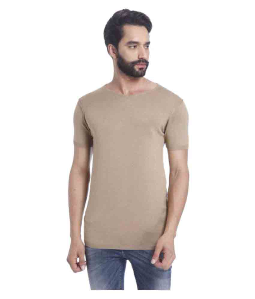 Youngtrendz Brown Round T-Shirt
