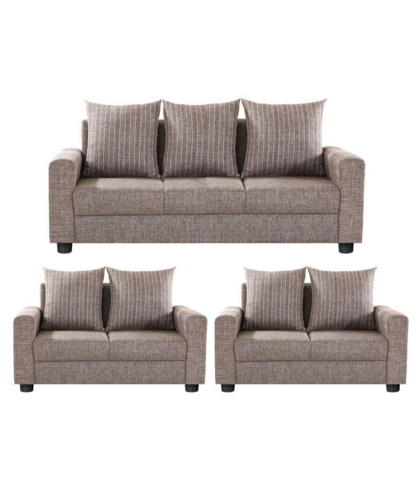 Sofas For Cheap Prices: Gioteak Peru Fabric 3+2+2 Sofa Set