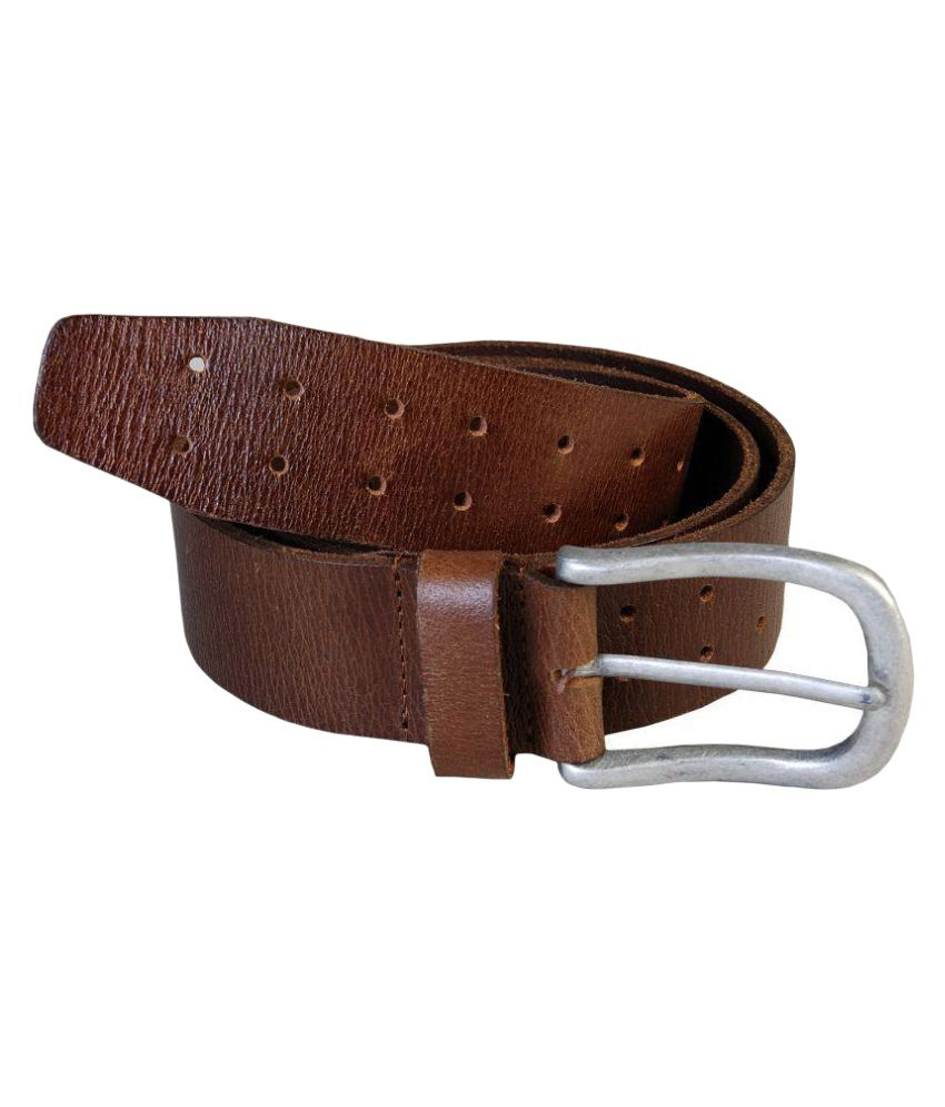 Leather Club Brown Leather Casual Belts