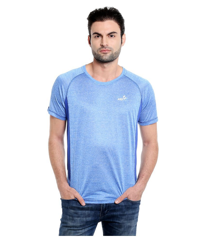 Fitz Blue Polyester T-Shirt Single Pack