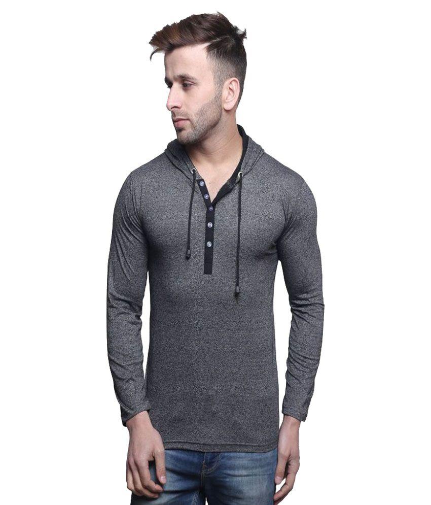 Leana Grey Hooded T-Shirt