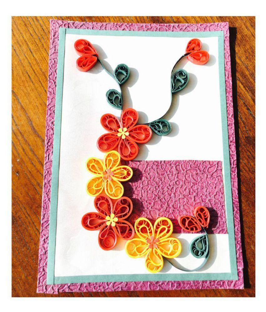 Bonitahub Handmade Quilling Birthday Card