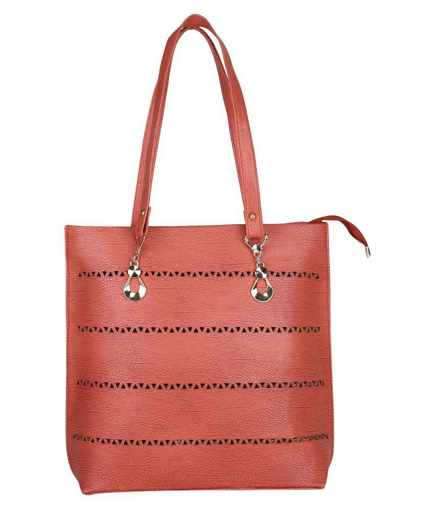 Freya Peach P.U. Shoulder Bag
