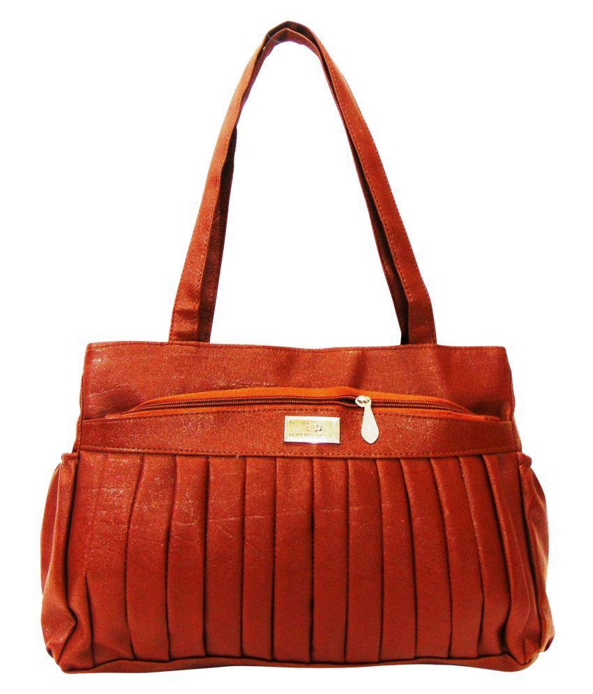 Estoss Brown P.U. Shoulder Bag