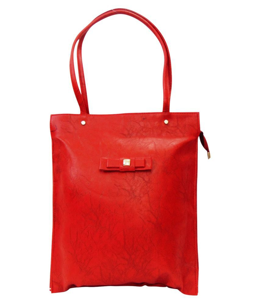 Estoss Red P.U. Shoulder Bag