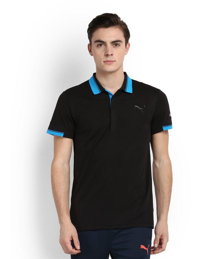 Puma Black Polo T Shirt Buy Puma Black Polo T Shirt
