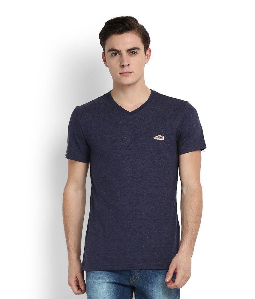 Puma Blue V-Neck T-Shirt