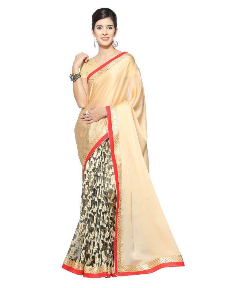 Vkaran Multicoloured Satin Saree