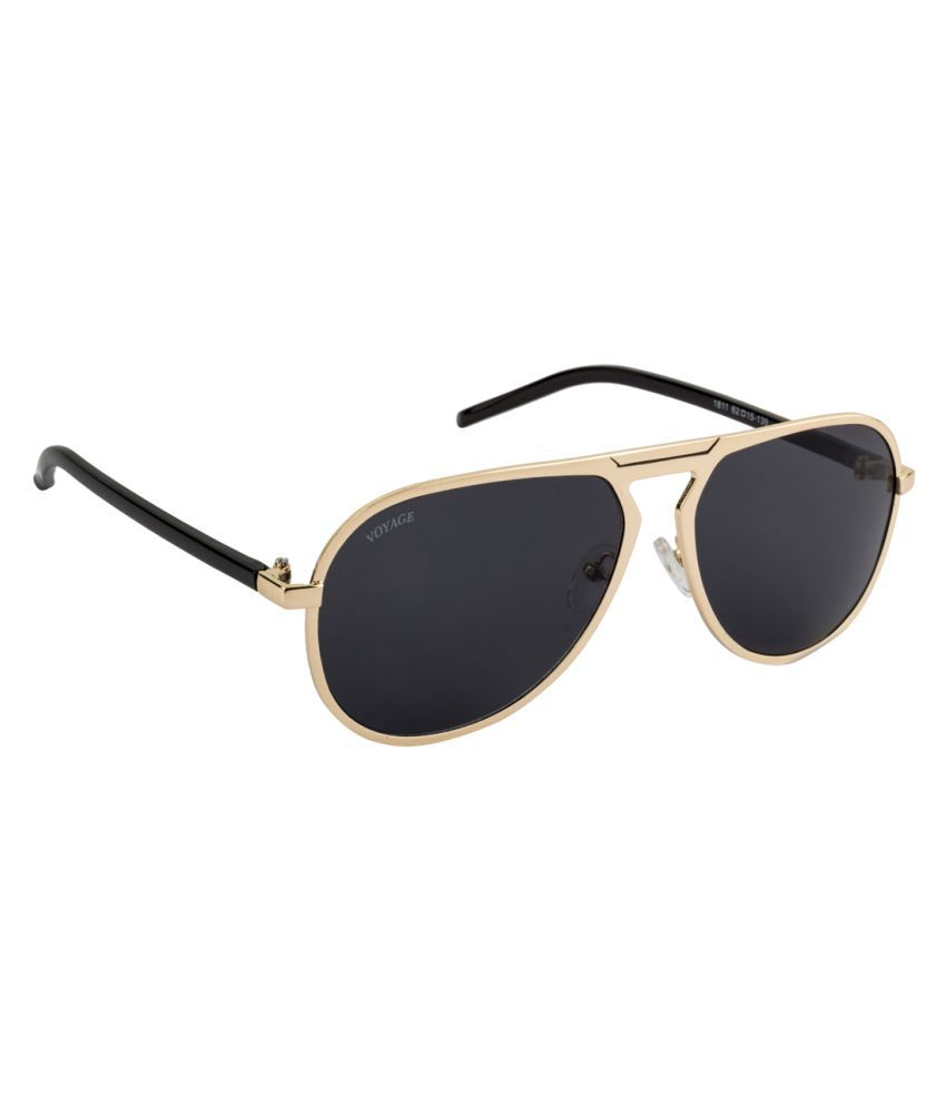 Voyage Black Aviator Sunglasses ( 1811MG1256 )