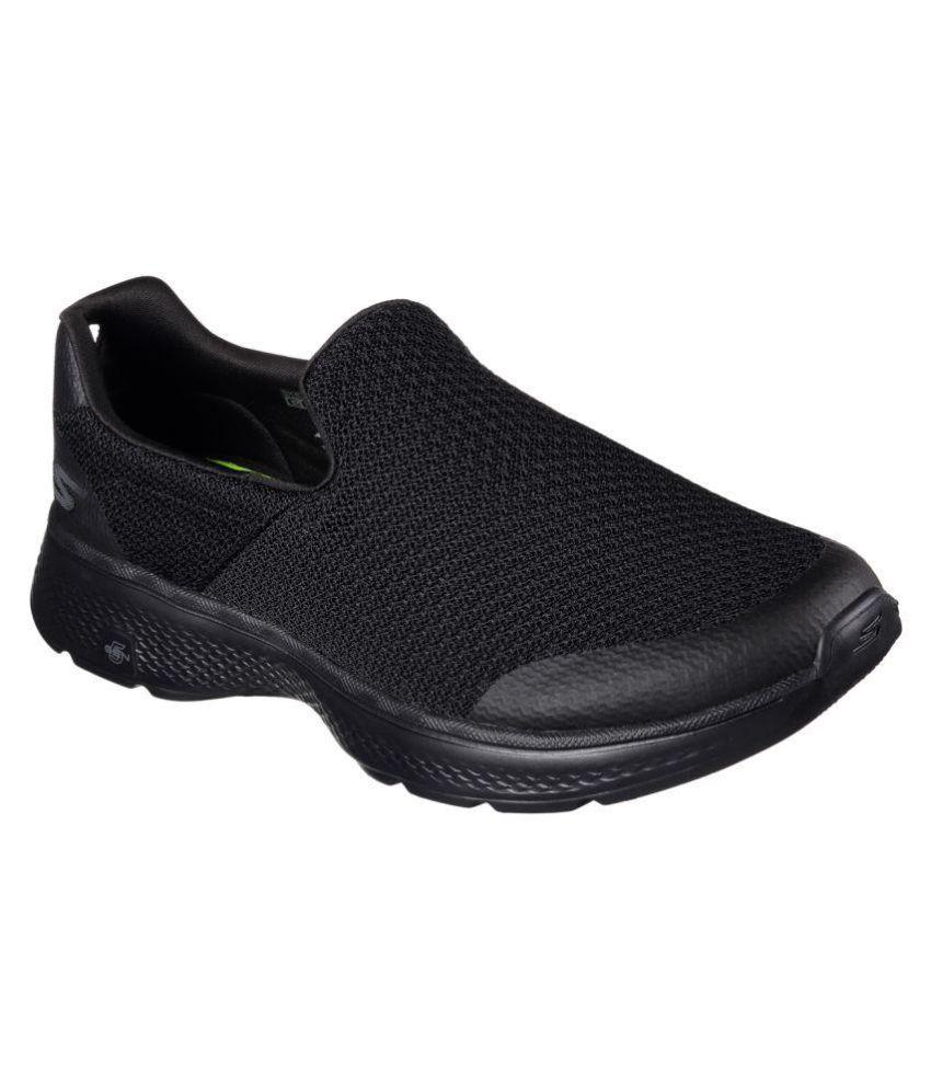 Skechers Go Walk 4 Black Running Shoes Buy Skechers Go