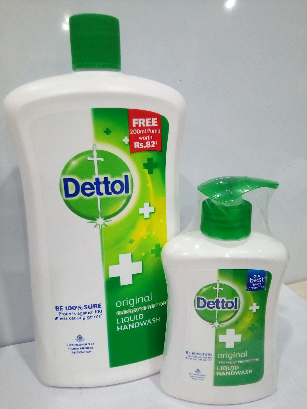 Dettol Original Refill Jar 900 Ml With Free Handwash Pump Pack Of 2 Series Package