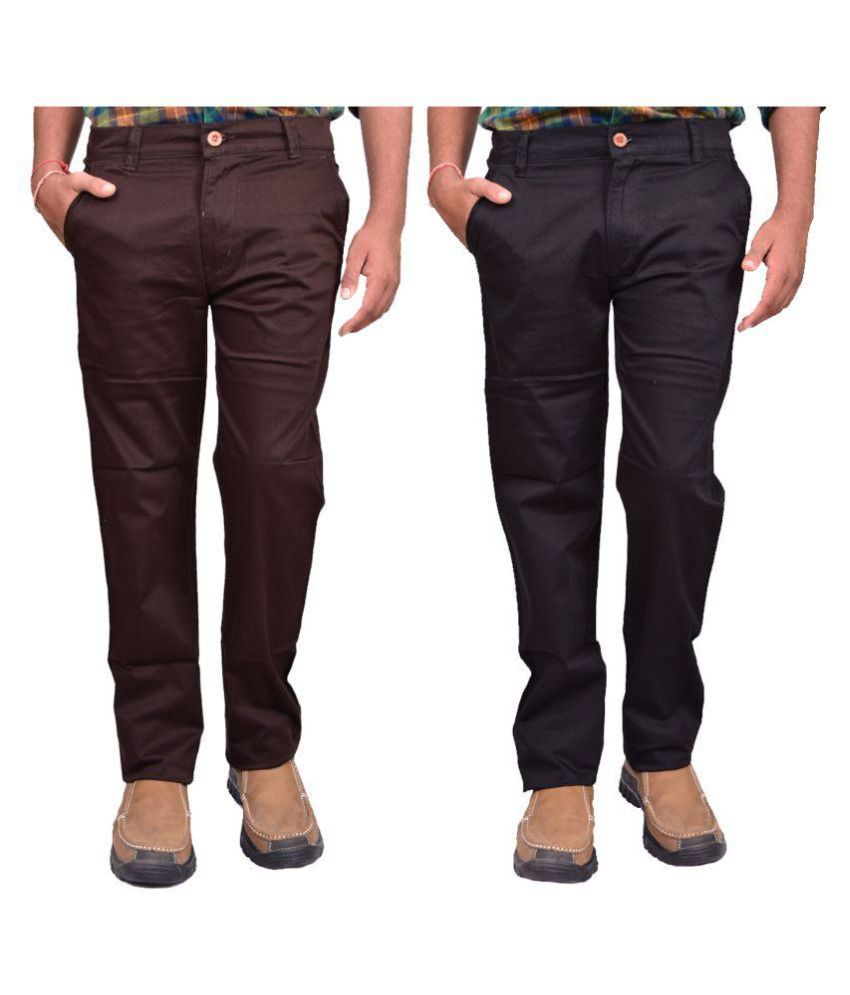 British Terminal Multi Slim Flat Chinos