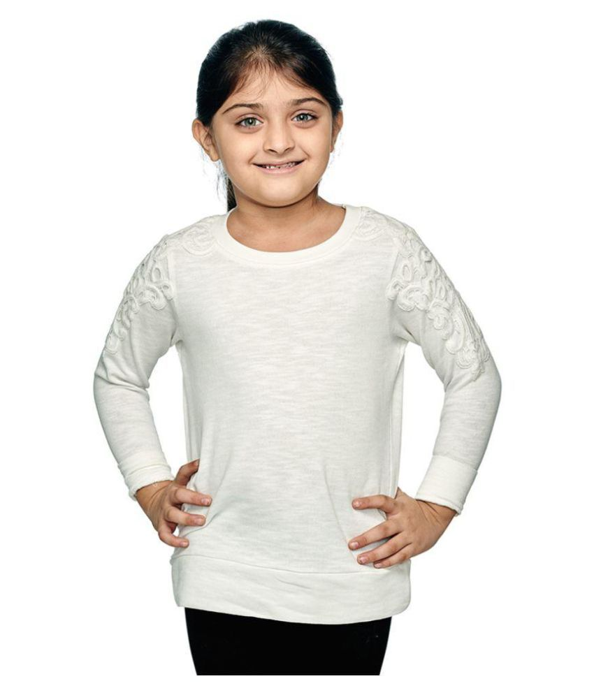 Ventra Girls Lace Sweatshirts White