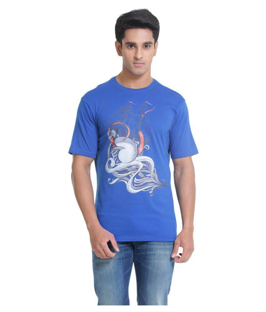 Samtana Blue Round T-Shirt