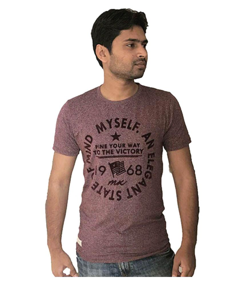 Adiosstyle Maroon Round T-Shirt