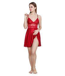 Queen Pretty Satin Nighty & Night Gowns - 637125813278