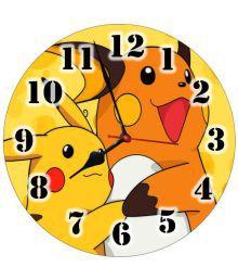 3d India Circular Analog Wall Clock - 3d Pikachu&raichu 30
