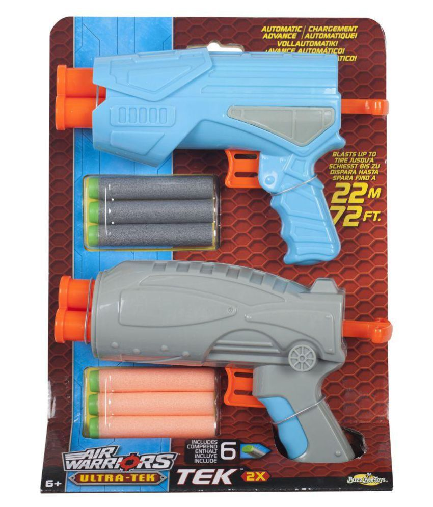Buzz Bee Toys Air Warriors Ultra-tek Gem 2 Pack Blasters  available at snapdeal for Rs.699