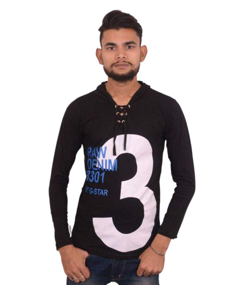 Hero & Piyush Black Hooded T-Shirt