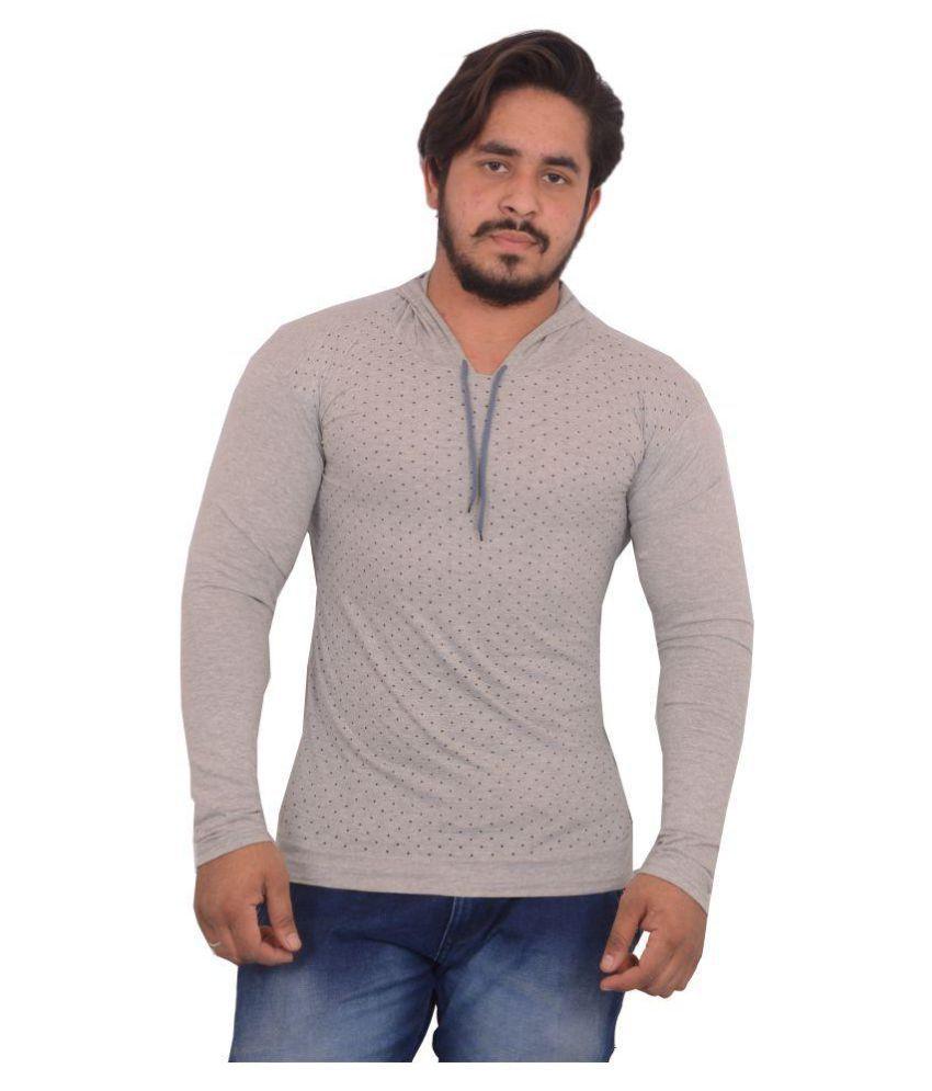 Hero & Piyush Grey Hooded T-Shirt