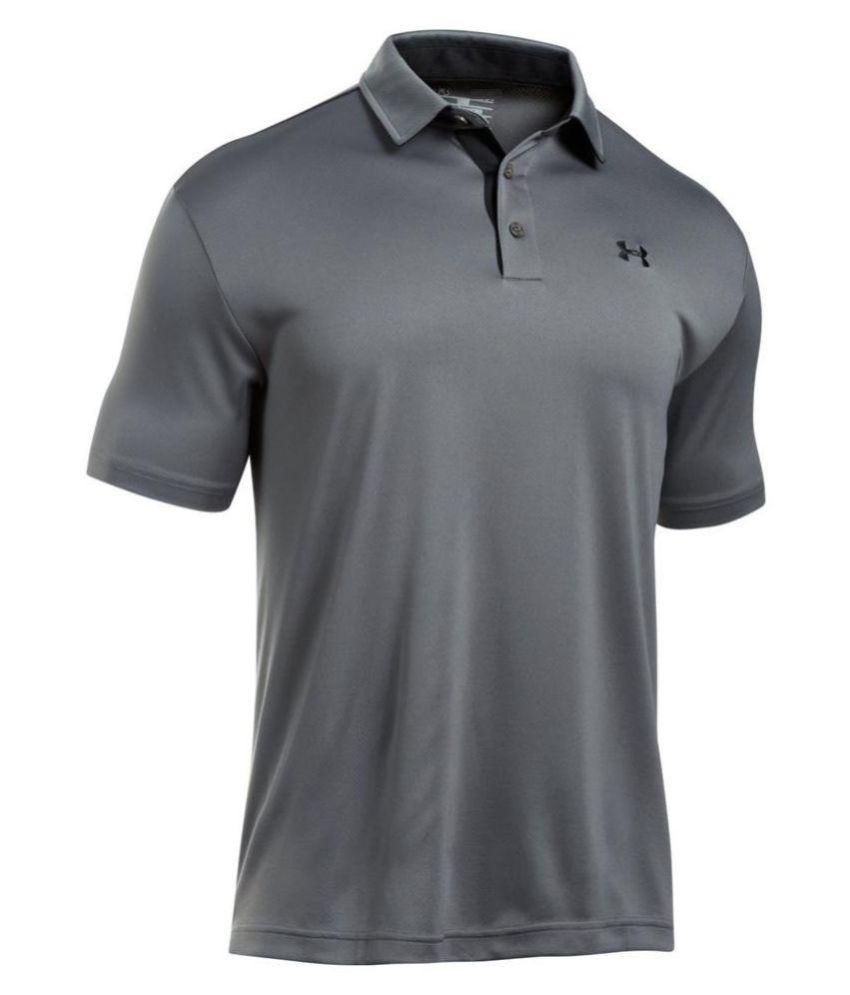 Under Armour Grey Polyester T Shirt