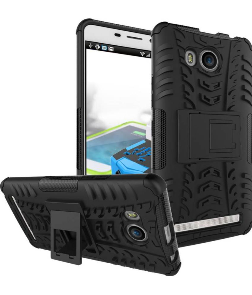 Lenovo A7700 Plus Cases with Stands Om - Black