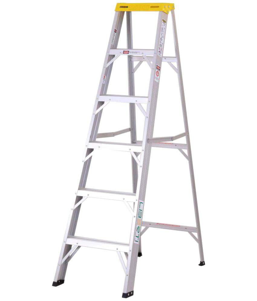aluminium step ladder. 6 Feet Liberti Aluminium Step Ladder