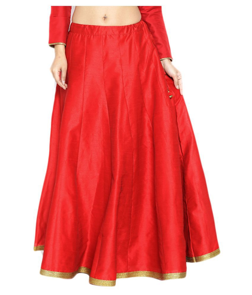 340334ba98015 Buy Carnival Silk Pleated Skirt Online at Best Prices in India - Snapdeal